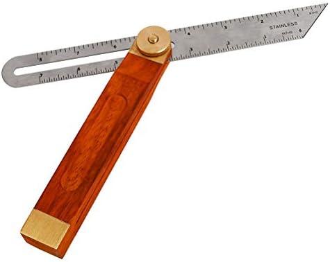 300 mm QLOUNI Medidor de Bisel Cuadrado Ajustable para carpinter/ía