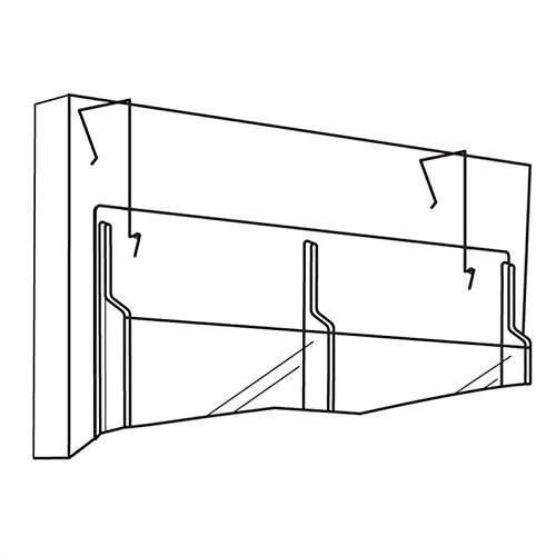 safco products 5661nc wire partition panel hanger for use with all reveal literature displays