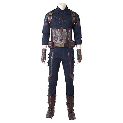 2018 Movie Avengers Infinity War Captain America Cosplay Costume for Halloween