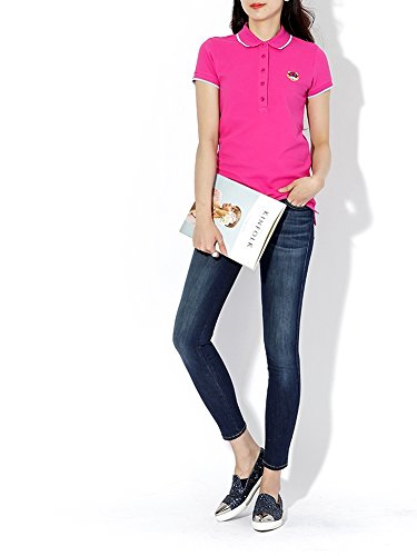 a99d161d Wiberlux Kenzo Women's Tiger Patch Polo Shirt S Pink by Wiberlux (Image #3)