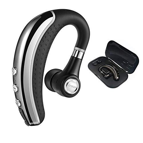 [Upgrade Version]Bluetooth Headset,Ansion Wireless Bluetooth 4.1 Earpiece Earbuds Earphones Headphones with Noise Reduction,Mute Switch,Hands Free with Mic for Office/Business/Workout/Driver/Trucker