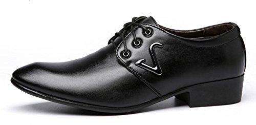 Men's de Banquete vestido black Business boda Cinturón vestir cuero Oxford de de HYLM 3176 zapatos zapatos la brillante dg6xqnzdHw