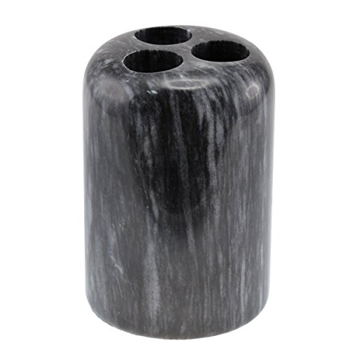 Creative Home Internal Spa Collection Black Marble Tooth Brush Holder ()