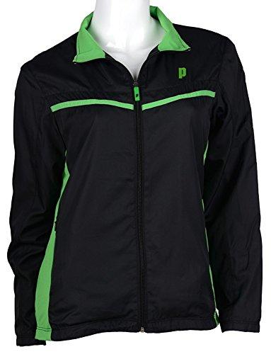 Prince Black Jacket - Prince WarmUp Jacket Women's (Black/Green) (Medium)