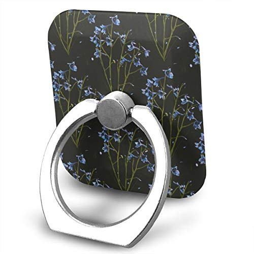 SJWE0 Cell Phone Holder,Universal Metal Smartphone Ring Grip Stand for iPhone/Ipad/Samsung HTC/Nokia/Smartphones/Tablet Romantic Wild Flowers ()