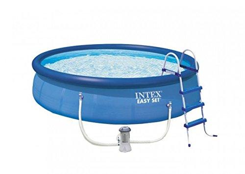 Intex Aufstellpool Easy Pool Set, TÜV/GS, blau, Ø 457 x 107 cm