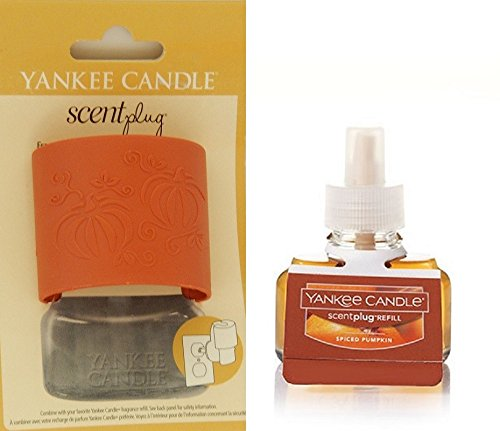 - Yankee Candle Pumpkins Scent-Plug Diffuser Base with SPICED PUMPKIN Home Fragrance Electric Refill