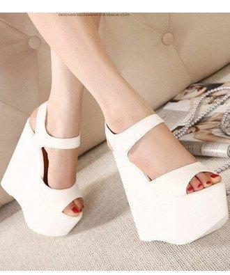 sandalias y Sandalias sandalias Blanco de de XiaoGao espesor 17 verano cm ZHEw5wOq