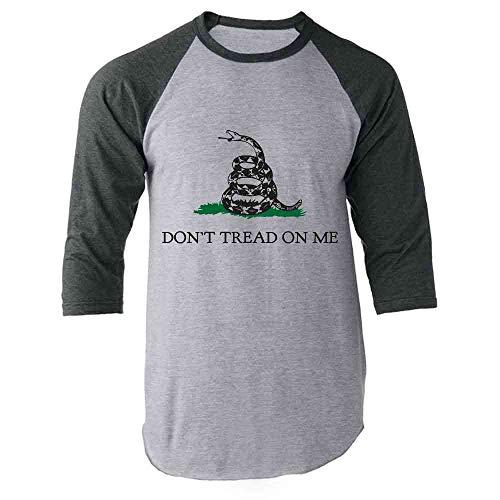 (Don't Tread On Me Gray S Raglan Baseball Tee Shirt)