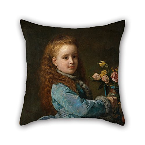 TonyLegner Oil Painting Edward Harrison May - Edith Wharton Pillow Covers 16 X 16 Inches / 40 by 40 cm Best Choice for Outdoor Kids Relatives Car Seat Gf Deck Chair with Twin Sides