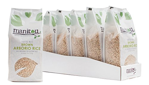 Brown Arborio Rice by Manitou Trading Company, 18-Ounce, 6 Pack Sleeve by Manitou Trading Company