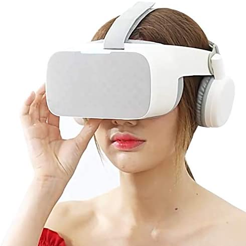 バーチャルリアリティ 3D VRメガネ ヘッドマウント オールインワン 1080P 5.5インチ スクリーン 、 のために 2D 3D バーチャルリアリティ 映像,白
