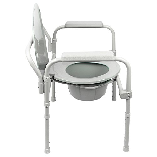 Commode by Vive - Bedside Commode for Seniors, Handicap, Bariatric ...