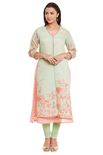 BIBA-Womens-Polyester-Front-Open-Kurta-Green