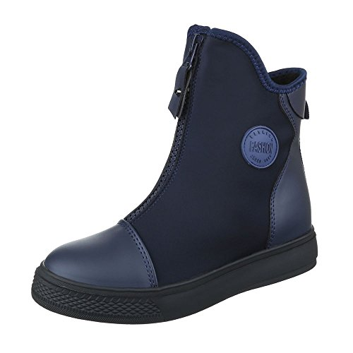 Ital-Design Women's Boots Dark Blue JZEN7YxR