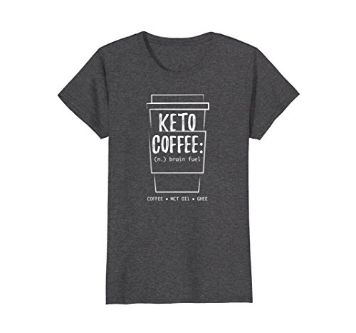 Womens Keto T-shirt - KETO Coffee Addict T shirt Large Dark Heather (Addict Dark T-shirt)