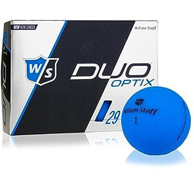 Wilson Staff Duo Soft Optix Matte Blue Golf Balls