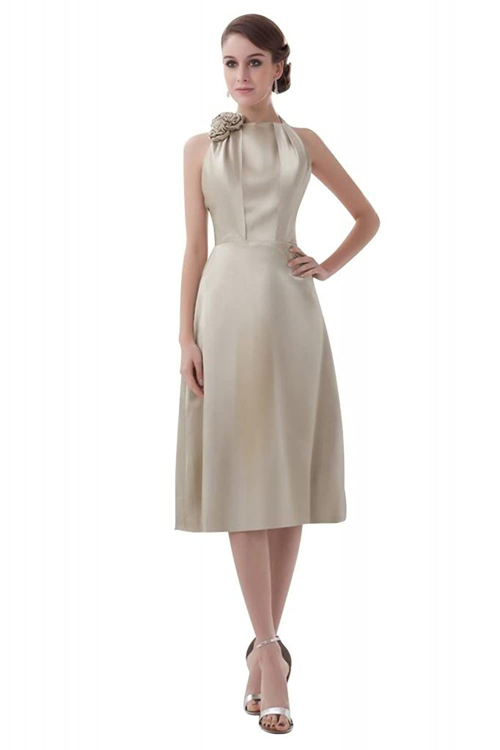 GEORGE BRIDE New Short Sleeveless Evening Dress