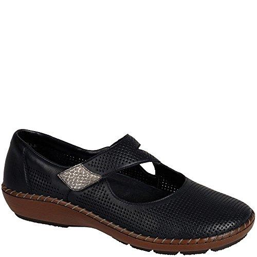 Rieker Black Woman Woman Cristalli Rieker Shoe qC1dX