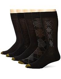 Gold Toe Men's Argyle Assorted Crew Socks, Five Pairs