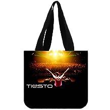 Custom TIESTO Canvas Tote Bag Reusable Shopping Bag (2 Sides)