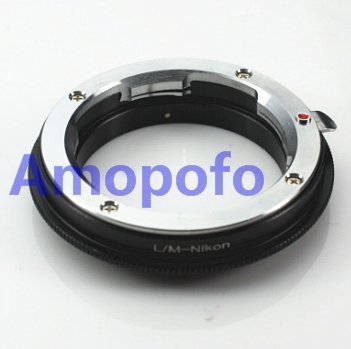 amopofo lm-nikon adaptador Leica M LM lente para Nikon F Mount ...