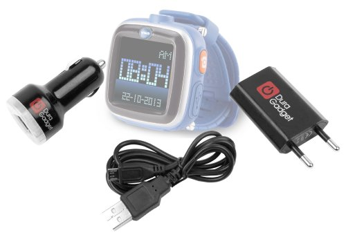 Price comparison product image DURAGADGET Micro USB EU Mains And Car Charger Set With Hardy Robust Lead Compatible With Vtech Kidizoom Smartwatch