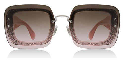 a85cec92d622 Miu Miu MU01RS UEU1E2 Transparent Pink Glitter MU01RS Square Sunglasses  Lens Ca - Buy Online in Oman.