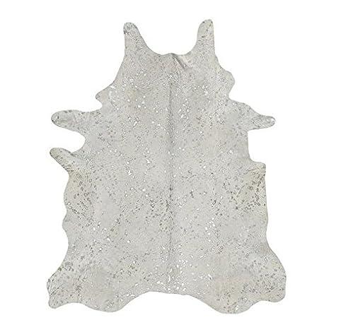 Kuh Hide Teppich Acid Wash Metallic Silber bedruckt Alfombra Piel ...