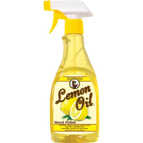 Howard Products Howard LM0016 Lemon Oil Wood Polish, 16-O...