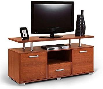Mueble para TV Zafra 01, color cerezo - 67 x 135 x 50 cm (alto x ancho x profundidad): Amazon.es: Bricolaje y herramientas