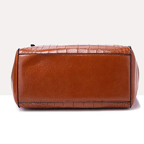 Vintage Capacity Ladies Brown Laidaye Shoulder Shoulder kaki Large Bags Handbag Ladies 28cm 15 27 5wff8WTqU