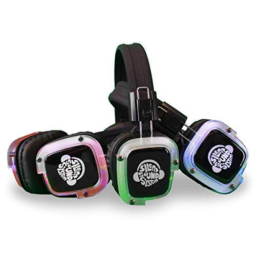 150 Pack Silent Sound System Silent Disco Headphone Package (3 Transmitters)