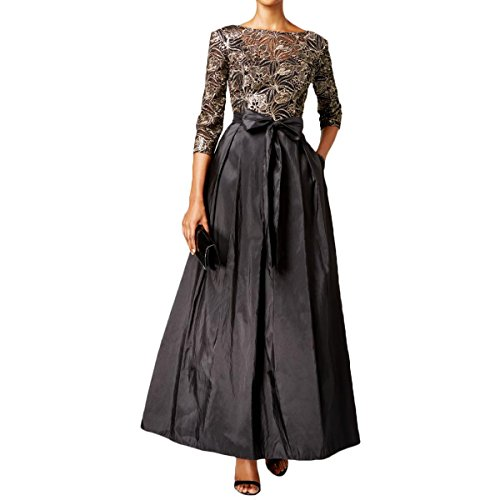 alex evenings black sequin dress - 6