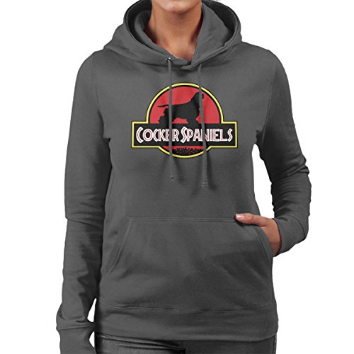 Spaniels Hooded Cocker Sweatshirt Women's Jurassic 65URq5