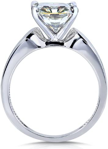 Kobelli Round Moissanite Solitaire Engagement Ring 3 CTW 14k White Gold