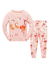 Little Girls Cute Heart Pajamas Sets Long Sleeve Sleepwear leggings Outfits