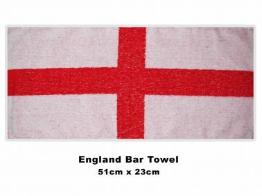 England Cross of St George Bar Towel (Cross Rugby England)