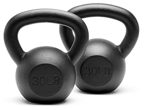 - Unipack Powder Coated Solid Cast Iron Kettlebell Weights Set- (30+30 lbs)