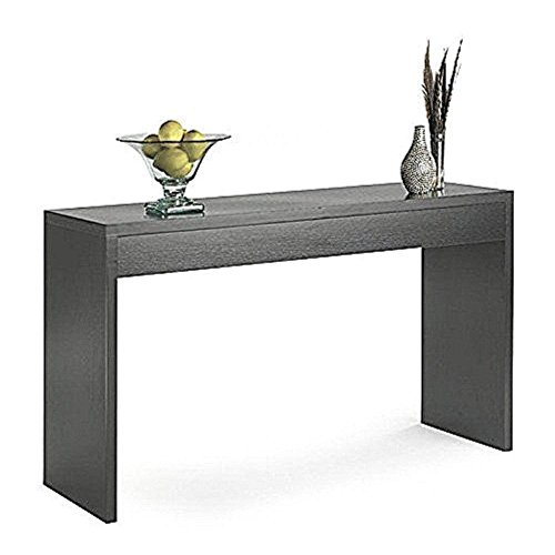 Hallway Console Table Narrow Entryway Foyer Accent Entry Console Home Sleek Furniture Transitional Style and Functionality Unique Contemporary Design Espresso Wood Grain Finish & eBook by BADA shop