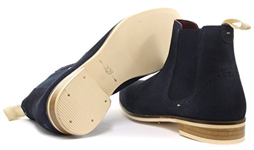 London Brogues Croxley Herren Chelsea-Boots Navy Suede/Off White Sole