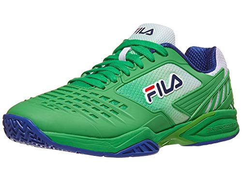 FILA Men's Axilus 2 Energized Tennis Shoes (10 M US, Bright Green/Surf The Web/Fila Navy)