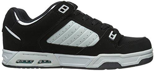 DVS (Elan Polo) Militia Heir - Zapatos de skateboarding de cuero para hombre Negro (Blk/Plaid Nubk)