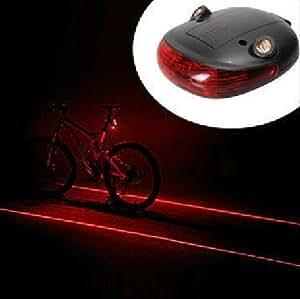 Cycling Bicycle Bike Beam Rear Tail Safety Caution Led Laser Flashing Warning Lamp Light