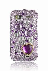 HTC Sensation 4G Full Diamond Graphic Case - Purple Heart (Free HandHelditems Sketch Universal Stylus Pen)