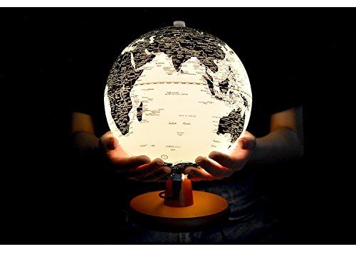 Illuminated World Globe Detailed Educational Geographic Learning Toy Sturdy 7.8 Inch Diam (7.8 In)