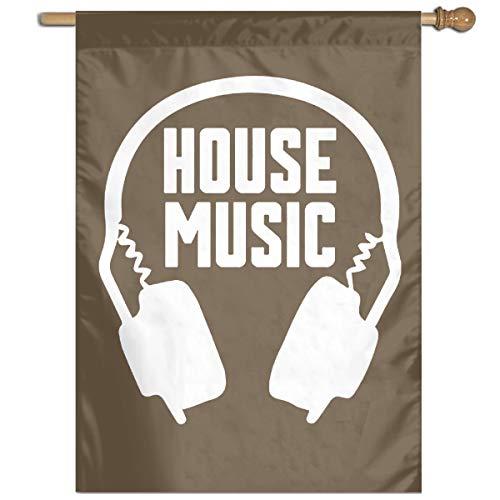 Flag House Music Large House Flag Vertical Print 27
