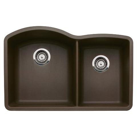 Blanco 440177 Diamond Undermount 1-3/4 Bowl Silgranit II Kitchen Sink, Cafe Brown (Brown Granite Kitchen Sinks)