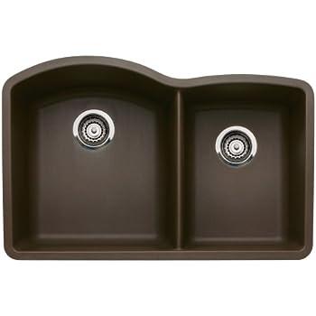 Blanco 440177 Diamond Undermount 1-3/4 Bowl Silgranit II Kitchen Sink, Cafe Brown