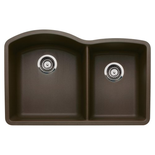 Blanco 440177 Diamond Undermount 1-3/4 Bowl Silgranit II Kitchen Sink, Cafe Brown by Blanco